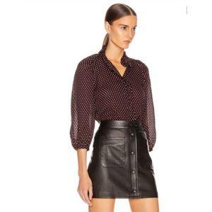Frame Denim 100% silk Grace heart print blouse